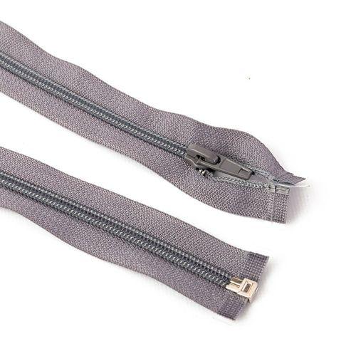 Cierre desmontable cadena 6 de 80 cm - Gris claro