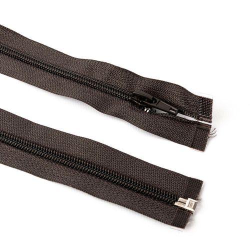 Cierre desmontable cadena 6 de 80 cm - Gris oscuro