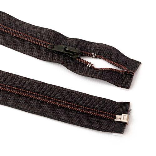 Cierre desmontable cadena 6 de 80 cm - Marrón oscuro