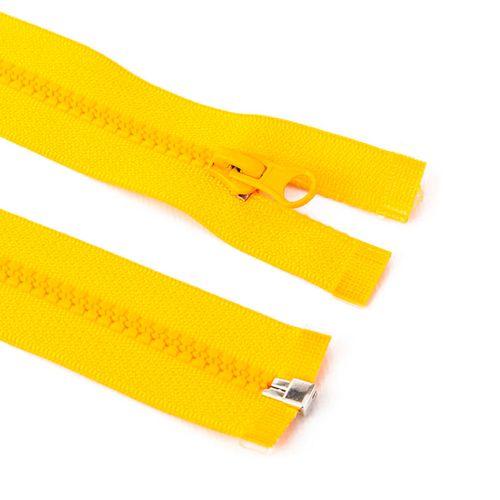 Cierre desmontable diente de perro de 80 cm - Amarillo
