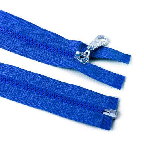 Cierre desmontable diente de perro de 80 cm - Azul francia