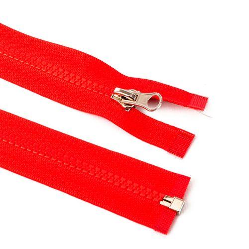 Cierre desmontable diente de perro de 80 cm - Rojo