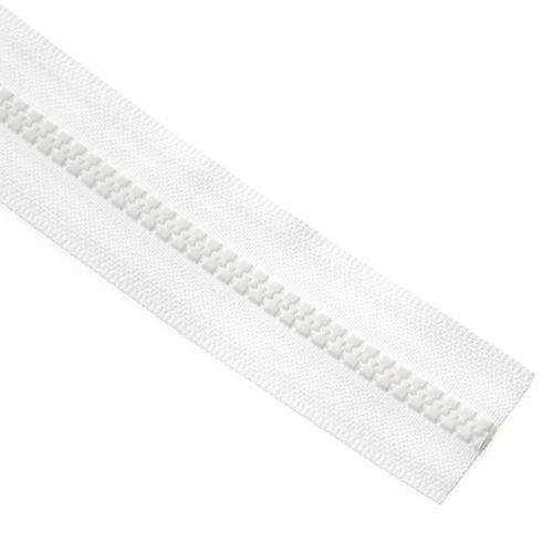 Cierre YKK diente de perro cadena 5 x metro - Blanco