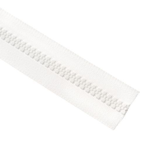 Cierre YKK diente de perro cadena 10 x metro - Blanco
