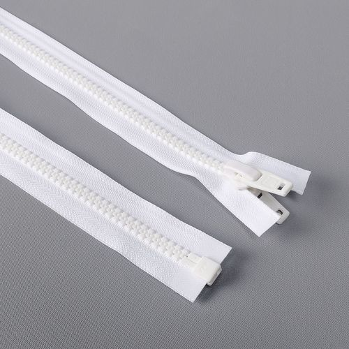 Cierre desmontable diente de perro cadena 10 YKK - 1,02 mts - Blanco