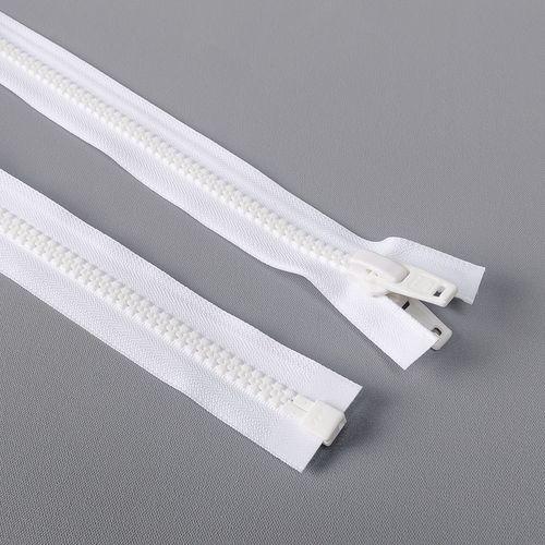 Cierre desmontable diente de perro cadena 10 YKK - 2,44 mts - Blanco