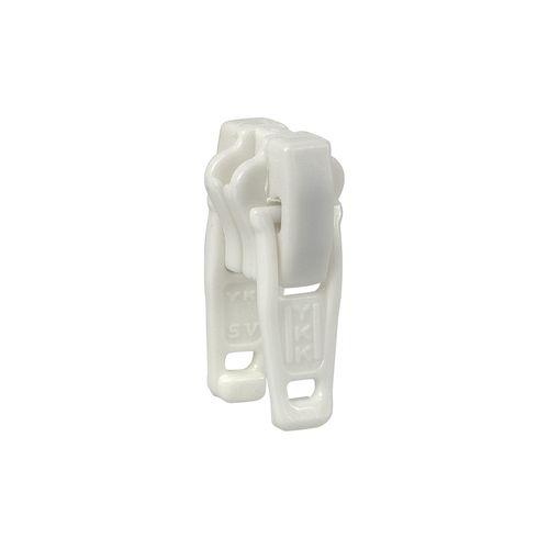 Deslizador diente de perro cadena 5 YKK - Plástico doble - Blanco
