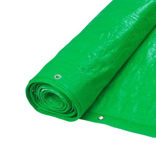 Rafia cubrecerco plastificada con ojales - Verde claro de 1,50 mts de ancho