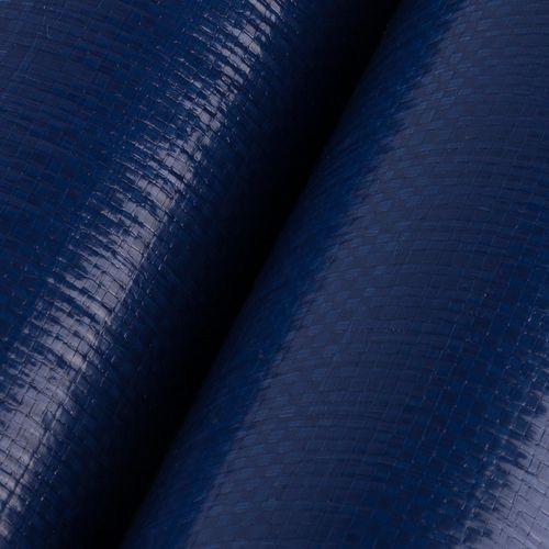 Rafia laminada - Azul y plateado