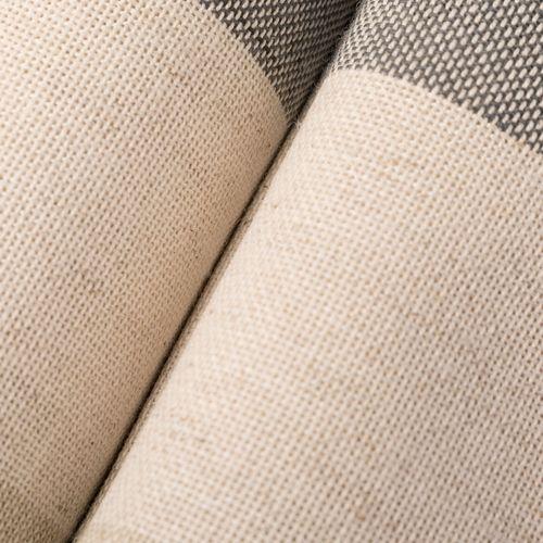 Tela tipo lino rayado - Ceniza arena y natural