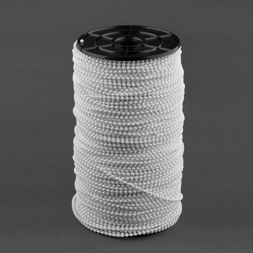 Cadena plástica para cortinas roller - Blanca