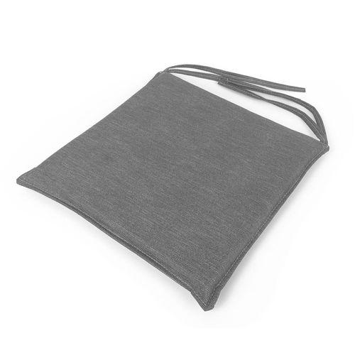 Almohadones para sillas de 40 x 40 cm - de cuerina milano gris grafeno