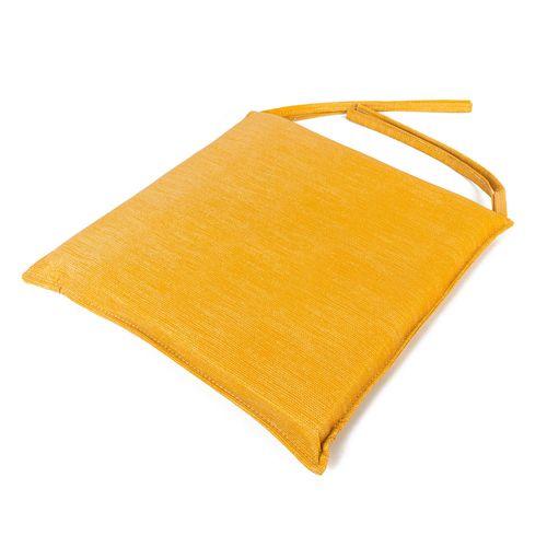 Almohadones para sillas de 40 x 40 cm - de cuerina milano trigo