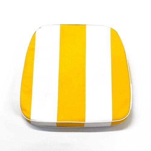 Almohadón de jardín estándar - Rayado - Amarillo y blanco
