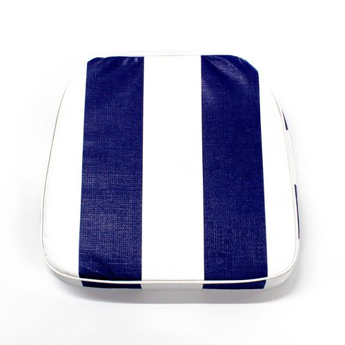 Almohadón de jardín estándar - Rayado - Azul y blanco