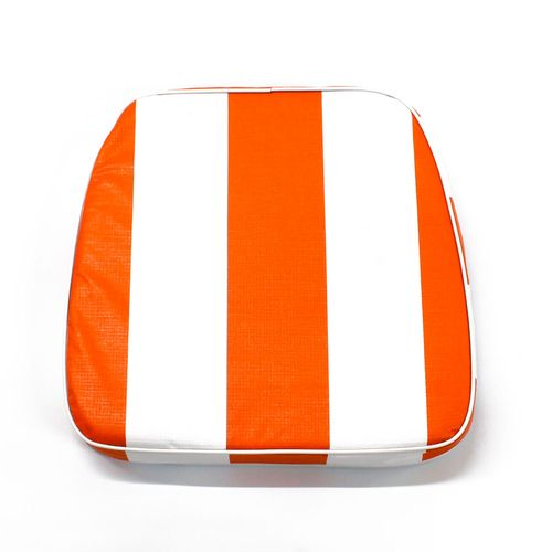 Almohadón de jardín estándar - Rayado - Naranja y blanco