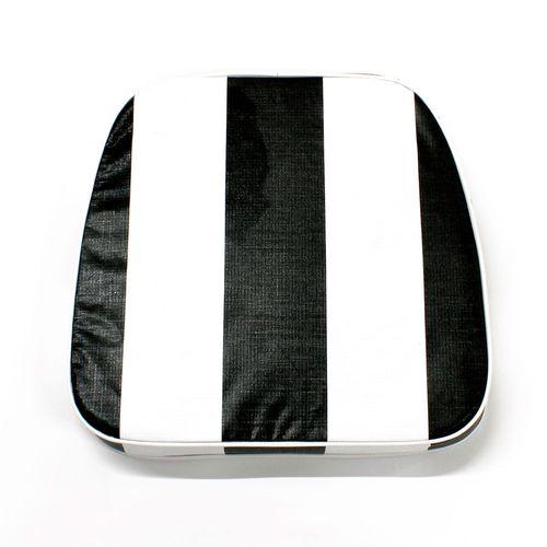 Almohadón de jardín estándar - Rayado - Negro y blanco