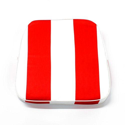 Almohadón de jardín estándar - Rayado - Rojo y blanco