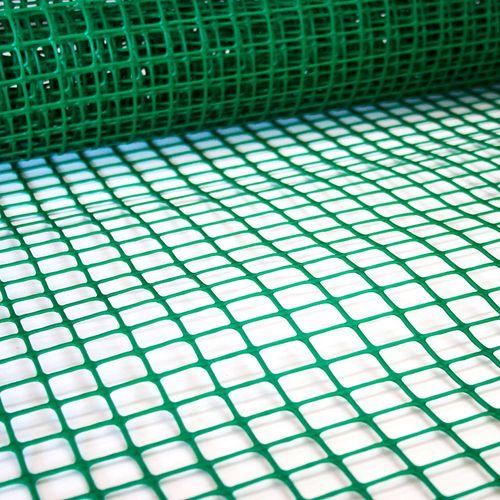 Cerramiento plástico - Cuadrícula grande - Verde