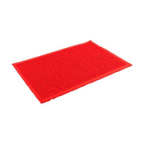 Felpudo de PVC enrulado - de 40 x 60 cm - Rojo