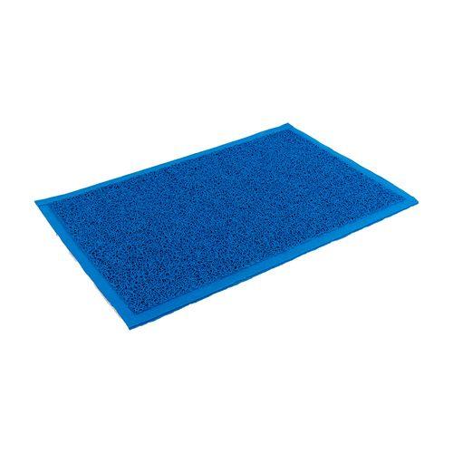 Felpudo de PVC enrulado - de 65 x 90 cm - Azul