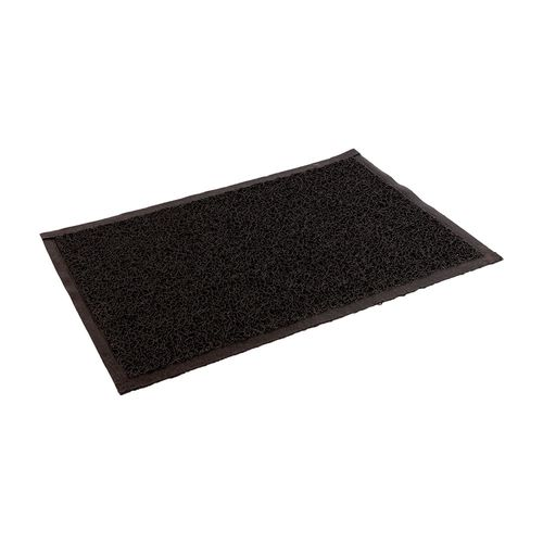 Felpudo de PVC enrulado - de 65 x 90 cm - Negro