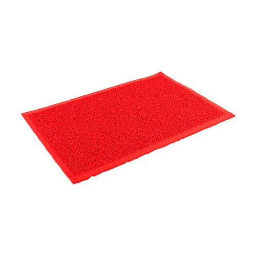 Felpudo de PVC enrulado - de 65 x 90 cm - Rojo