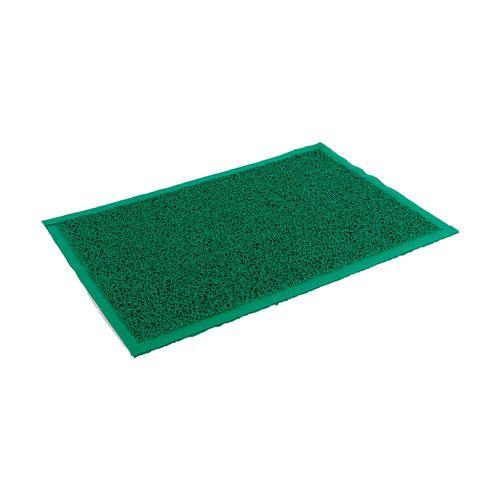 Felpudo de PVC enrulado - de 65 x 90 cm - Verde