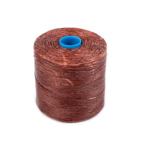 Hilo encerado de nylon Nº 5 - Marrón