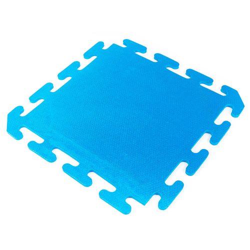 Piso encastrable de goma eva de 50 x 50 cm - Azul
