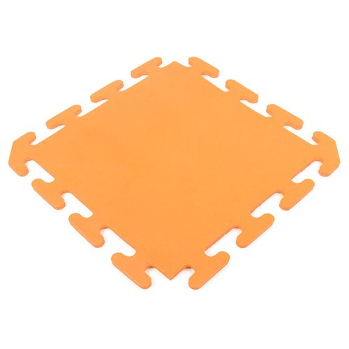 Piso encastrable de goma eva de 50 x 50 cm - Naranja