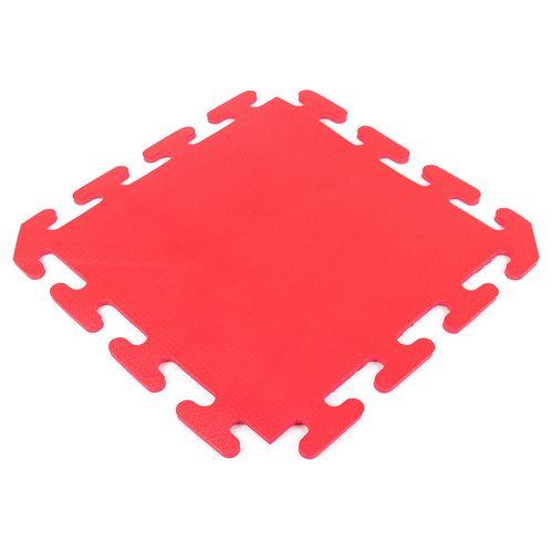 Piso encastrable de goma eva de 50 x 50 cm - Rojo