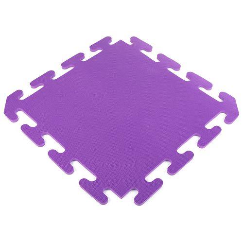 Piso encastrable de goma eva de 50 x 50 cm - Violeta
